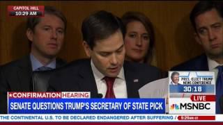 Rubio grills Tillerson on Putin