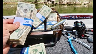 FOUND A BRIEF CASE FULL OF MONEY!!! WHILE FISHING!