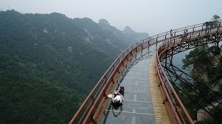 Cliffside glass walkway 2,000 meters above sea level, in Shaanxi, China