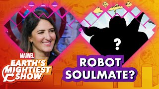 The Good Place's D'Arcy Carden Finds Her Robot Soulmate!   Earth's Mightiest Show