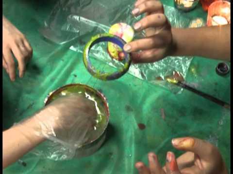 """Декупаж. В технике """"марморирование"""" декорируем тарелку и браслет. Мастер класс. Наташа Фохтина"""