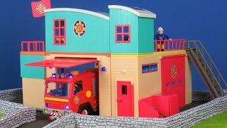 FEUERWEHRMANN SAM: Deluxe Jupiter Feuerwehr Rescue Station   Feuerwehrmann Sam Unboxing deutsch