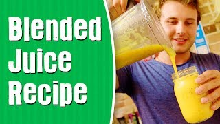 First Blended Juice Recipe —Mango & Passion Fruit