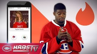 If P.K. Subban were on TINDER: Taylor Swift, Country Music, + more