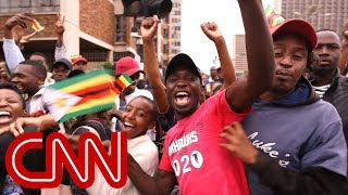 Protesters take to the streets calling for Mugabe to step down