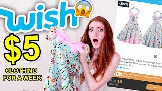 I WORE $5 CLOTHES FROM WISH FOR A WEEK!!! *Embarrassing* Wish Haul 2019 (YWIIBI)