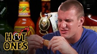 Rob Gronkowski Gets Blindsided by Spicy Wings | Hot Ones