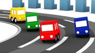Lehrreicher Zeichentrickfilm - Die 4 kleinen Autos - Welches Auto ist am schnellsten?