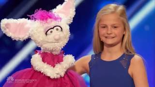 12 Year Old Ventriloquist Girl Gets Golden Buzzer on America