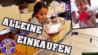 MILEYS ERSTER EINKAUF ALLEINE FÜR DIE FAMILIE Vlog #145 Our life FAMILY FUN