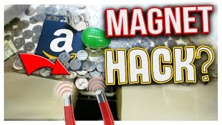 CAN YOU HACK A COIN PUSHER WITH A MAGNET? | Arcade Hacks