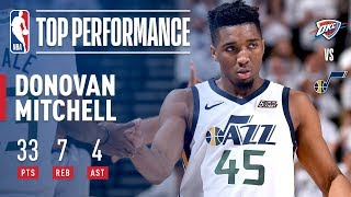 Donovan Mitchell Leads Jazz To Game 4 Victory With 33 Points