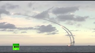 Russian Caspian Sea fleet launches cruise missiles against ISIS sites in Syria