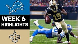 Lions vs. Saints | NFL Week 6 Game Highlights