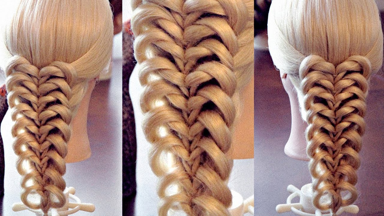 Плетение косичек с резинками для девочек пошагово