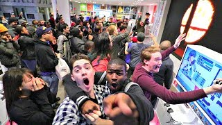 LIVE CROWD REACTION TO SMASH FOR SWITCH AT THE NINTENDO NY STORE!!!
