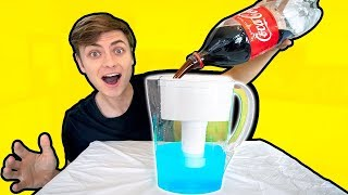 SODA VS WATER FILTER!! (WHAT WILL HAPPEN?)