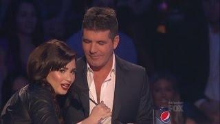 Demi Lovato and Simon Cowell - Funniest moments on The X factor - Season 2 (6/6) LEGENDADO