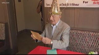 100 year-old gets free Chick-fil-A for life