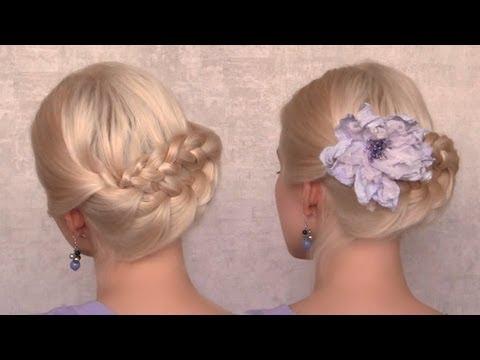 Свадебная прическа своими руками на средний волос