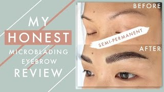 My HONEST Microblading Eyebrow Review | ilikeweylie