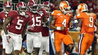 #1 Alabama vs #2 Clemson 2017 National Championship Highlights