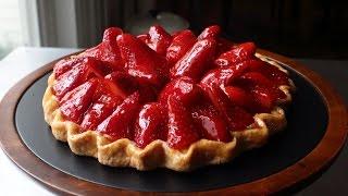 "Fresh Strawberry Tart - Easy ""Free-Form"" Strawberry Tart Recipe"