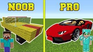 Minecraft: NOOB VS PRO!!! - CARS IN MINECRAFT!