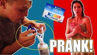 JAKE PAUL PUT ICY HOT IN MY LOTION!! (PRANK WARS)   Amanda Cerny ft. Logan Paul, Kong
