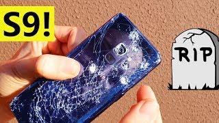 Test de DESTRUCCIÓN del Galaxy S9 - CUCHILLO, CAÍDAS Y MARTILLO
