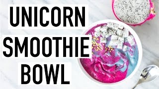 DIY UNICORN SMOOTHIE BOWL! Healthy Smoothie Bowl! Cooking With Liv Ep. 25