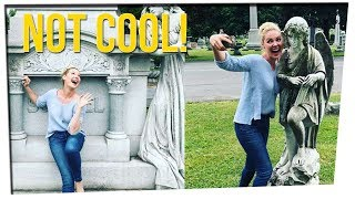 Katherine Heigl Apologies for Cemetery Selfies ft. DavidSoComedy & Noah Fleder
