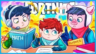 Fortnite but we help an 11 year old with his homework...