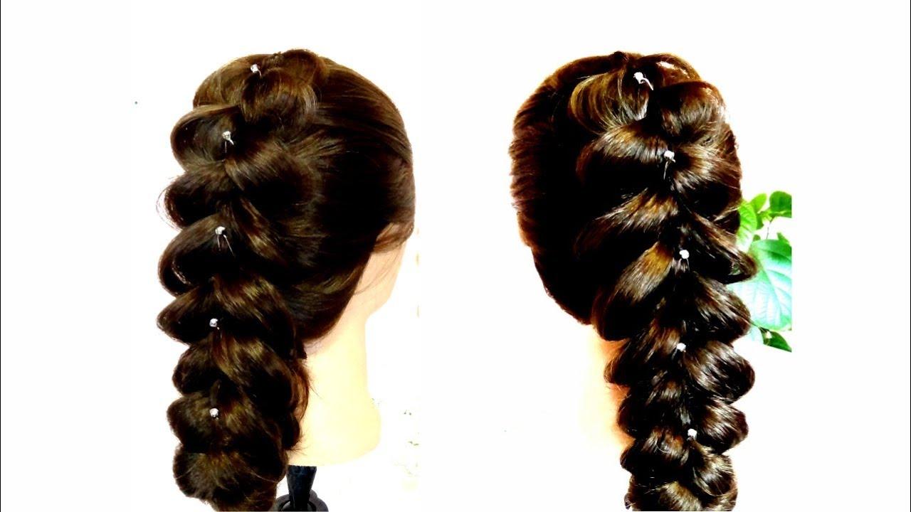 Объемная коса на средние волосы своими руками