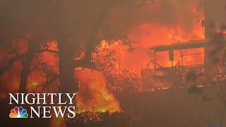 Wildfire Burns 75,000 Acres Near Yosemite National Park | NBC Nightly News