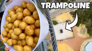 200 POTATOES Vs. TRAMPOLINE from 45m!