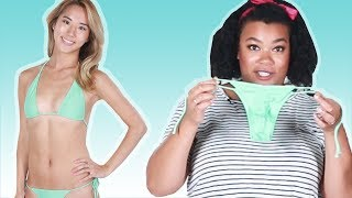 Women Try One Size Fits All Swimsuits
