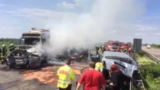 Zwei Tote nach Unfall auf der A14