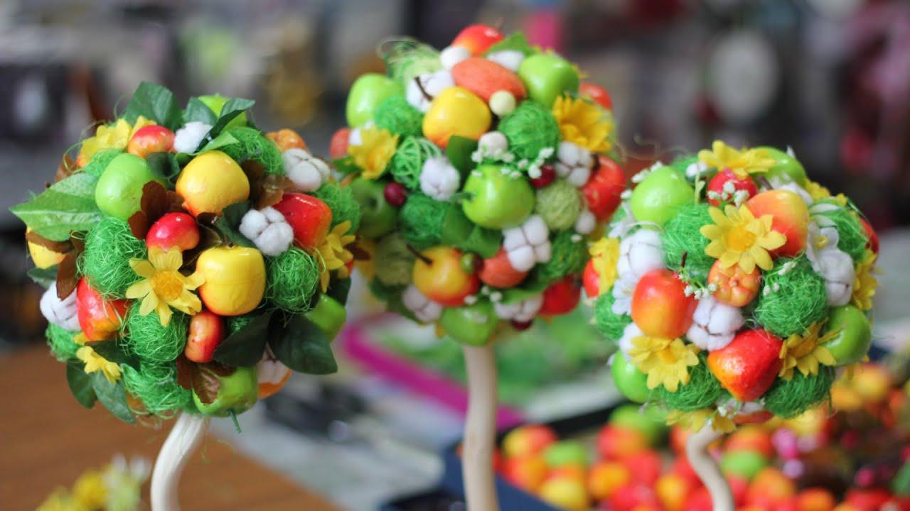 Уличные Фруктовая ёлка своими руками из фруктов