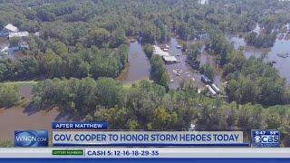 Gov. Cooper to honor heroes from Hurricane Matthew