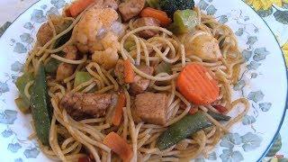 Chicken Tikka Spaghetti with Vegetables - Pakistani/Indian Cooking with Atiya
