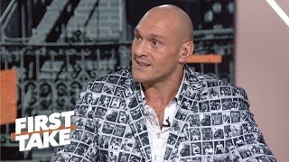 Tyson Fury challenges Anthony Joshua to prove himself on the world stage   First Take