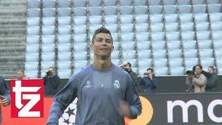 Real Madrid Abschlusstraining: Ronaldo und Co. zeigen ihre Tricks (FCB vs. Real Madrid)