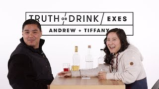 Exes Play Truth or Drink (Andrew & Tiffany) | Truth or Drink | Cut