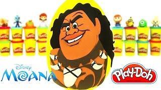 Huevo Sorpresa Gigante de Maui de Moana en Español de Plastilina Play Doh
