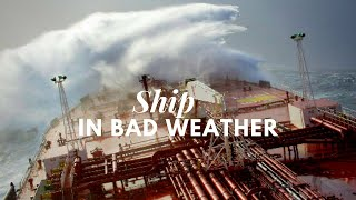 Ship in Bad Weather At Pacific Ocean | HD