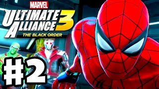 Marvel Ultimate Alliance 3: The Black Order - Gameplay Walkthrough Part 2 - Spider-man vs. Venom!