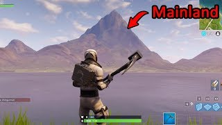 I Got Past The INVISIBLE BARRIER Blocking Off The MAINLAND!! (Fortnite)