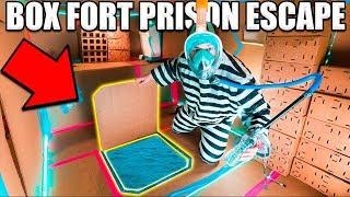 24 HOUR BOX FORT PRISON ESCAPE ROOM!! 📦🚔 UNDERWATER PRISON, Scuba & More!