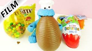 KRÜMELMONSTER FRISST RIESIGE Ü-EIER! Keine Kekseeee? Überraschungseier auspacken Deutsch